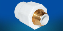 Male Brass Coupling with polymer layer